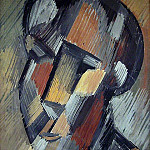 1909 TИte dhomme, Pablo Picasso (1881-1973) Period of creation: 1908-1918