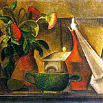 Pablo Picasso (1881-1973) Period of creation: 1908-1918 - 1908 Nature morte au bouquet de fleurs