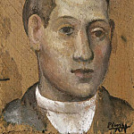 Pablo Picasso (1881-1973) Period of creation: 1908-1918 - 1915 Portrait dun jeune homme