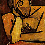 Pablo Picasso (1881-1973) Period of creation: 1908-1918 - 1908 Buste de femme accoudВe (Femme dormant)