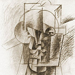 1912 TИte dhomme1, Pablo Picasso (1881-1973) Period of creation: 1908-1918