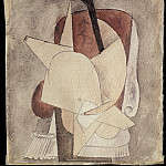 Pablo Picasso (1881-1973) Period of creation: 1908-1918 - 1913 Femme en chemise [Рtude]