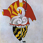 Pablo Picasso (1881-1973) Period of creation: 1908-1918 - 1917 Parade - projet de costume pour le prestidigitateur chinois