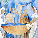 Pablo Picasso (1881-1973) Period of creation: 1908-1918 - 1908 Carnaval au bistrot [Рtude]