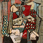 1918 Arlequin1, Pablo Picasso (1881-1973) Period of creation: 1908-1918