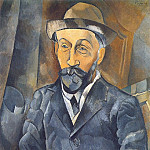 Pablo Picasso (1881-1973) Period of creation: 1908-1918 - 1909 Portrait de Clovis Sagot