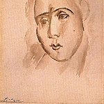 Pablo Picasso (1881-1973) Period of creation: 1908-1918 - 1909 TИte de femme (Fernande)1