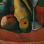 Pablo Picasso (1881-1973) Period of creation: 1908-1918 - 1908 Verre et fruits