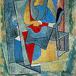 Pablo Picasso (1881-1973) Period of creation: 1908-1918 - 1917 Femme assise dans un fauteuil rouge