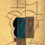 1912 TИte dhomme au chapeau, Pablo Picasso (1881-1973) Period of creation: 1908-1918