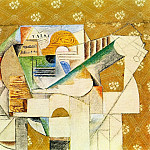 1912 Guitare et feuille de musique, Pablo Picasso (1881-1973) Period of creation: 1908-1918
