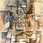 1912 Guitare, verre et pipe, Pablo Picasso (1881-1973) Period of creation: 1908-1918