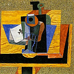 1915 Verre, as de trКfle, bouteille sur une table, Pablo Picasso (1881-1973) Period of creation: 1908-1918