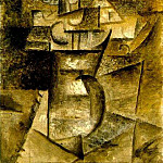 1910 Vase de fleurs, Pablo Picasso (1881-1973) Period of creation: 1908-1918