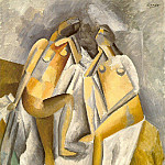 Pablo Picasso (1881-1973) Period of creation: 1908-1918 - 1909 Deux femmes nues