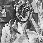 Pablo Picasso (1881-1973) Period of creation: 1908-1918 - 1909 Femme et pot de moutarde
