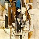 1913 Violon au cafВ , Pablo Picasso (1881-1973) Period of creation: 1908-1918