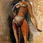 Pablo Picasso (1881-1973) Period of creation: 1908-1918 - 1908 Femme nue debout