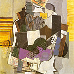 1914 Arlequin Е la guitare [Arlequin jouant de la guitare], Pablo Picasso (1881-1973) Period of creation: 1908-1918