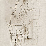 Pablo Picasso (1881-1973) Period of creation: 1908-1918 - 1914 Homme Е la pipe attablВ [Homme Е la pipe accoudВ sur une table]