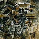 1910 verre dabsinthe, Pablo Picasso (1881-1973) Period of creation: 1908-1918
