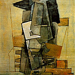 1915 Homme assis1, Pablo Picasso (1881-1973) Period of creation: 1908-1918