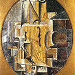 1912 Violon vertical, Pablo Picasso (1881-1973) Period of creation: 1908-1918