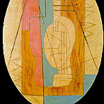 1912 Guitare verte et rose, Pablo Picasso (1881-1973) Period of creation: 1908-1918