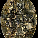 1911 Bouteille, verre, fourchette, Pablo Picasso (1881-1973) Period of creation: 1908-1918