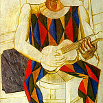 Pablo Picasso (1881-1973) Period of creation: 1908-1918 - 1916 Arlequin assis Е la guitare