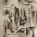 1911 TИte dhomme Е la pipe, Pablo Picasso (1881-1973) Period of creation: 1908-1918