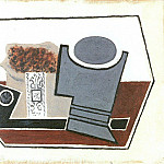 1918 Pipe, verre et paquet de tabac, Pablo Picasso (1881-1973) Period of creation: 1908-1918