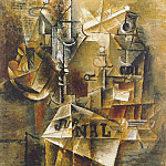 1912 Nature morte au journal, Pablo Picasso (1881-1973) Period of creation: 1908-1918