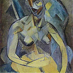 1909 jeune Femme, Pablo Picasso (1881-1973) Period of creation: 1908-1918