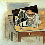 Pablo Picasso (1881-1973) Period of creation: 1908-1918 - 1917 Verre et compotier sur une table