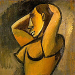 Pablo Picasso (1881-1973) Period of creation: 1908-1918 - 1908 Nu aux bras levВs de profil