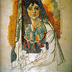 Pablo Picasso (1881-1973) Period of creation: 1908-1918 - 1917 Femme en costume espagnol (La Salchichona)