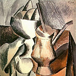 1909 Nature morte Е la chocolatiКre, Pablo Picasso (1881-1973) Period of creation: 1908-1918
