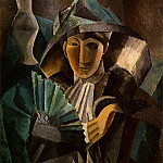 Pablo Picasso (1881-1973) Period of creation: 1908-1918 - 1909 Femme Е lВventail