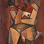 1908 femme assise2, Pablo Picasso (1881-1973) Period of creation: 1908-1918