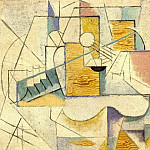 Pablo Picasso (1881-1973) Period of creation: 1908-1918 - 1912 Guitare sur une table II