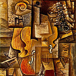 1912 Violon et raisins, Pablo Picasso (1881-1973) Period of creation: 1908-1918
