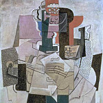 1914 Compotier, Violin, Bouteille, Pablo Picasso (1881-1973) Period of creation: 1908-1918