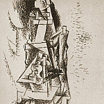 1912 Homme Е la guitare, Pablo Picasso (1881-1973) Period of creation: 1908-1918