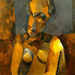 Pablo Picasso (1881-1973) Period of creation: 1908-1918 - 1909 Buste de femme3