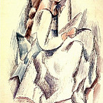 1909 Jeune fille assise, Pablo Picasso (1881-1973) Period of creation: 1908-1918