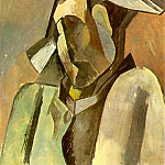 Pablo Picasso (1881-1973) Period of creation: 1908-1918 - 1909 Buste dArlequin