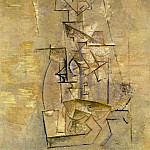 Pablo Picasso (1881-1973) Period of creation: 1908-1918 - 1910 Mademoiselle LВonie [Рtude] [Femme Е la guitare]