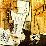 1914 Verre, as de trКfle et dВ, Pablo Picasso (1881-1973) Period of creation: 1908-1918