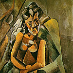 Pablo Picasso (1881-1973) Period of creation: 1908-1918 - 1909 Femme assise